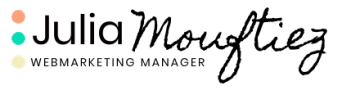 Julia Mouftiez • Votre webmarketing manager Logo